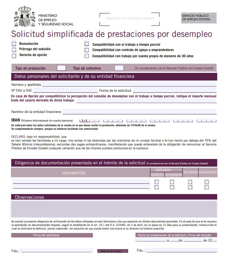 La prestaci n por desempleo for Sellar paro con certificado digital