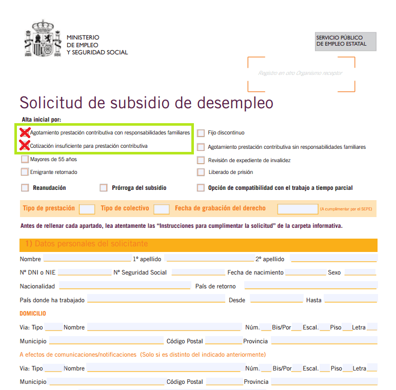 Ayuda familiar para desempleados for Sellar paro con certificado digital