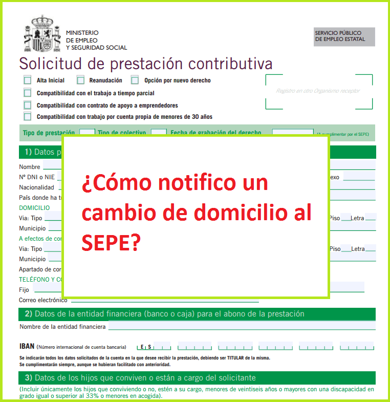Notificar un cambio de domicilio al inem sepe for Oficina inem castellon