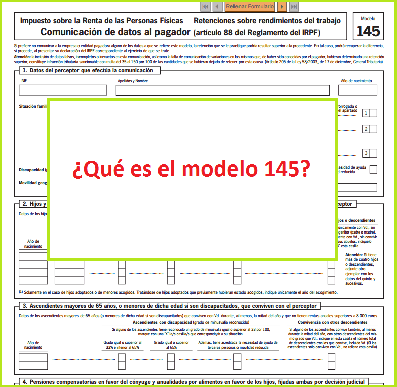 Cómo rellenar el modelo 145   Cursosinemweb.es