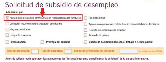Cómo rellenar el modelo de solicitud para la ayuda familiar PASO 1