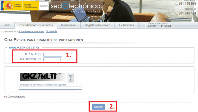 Cita previa inem por internet for Sepe oficina virtual