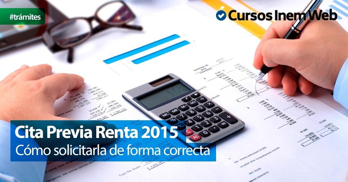 cita previa renta 2015