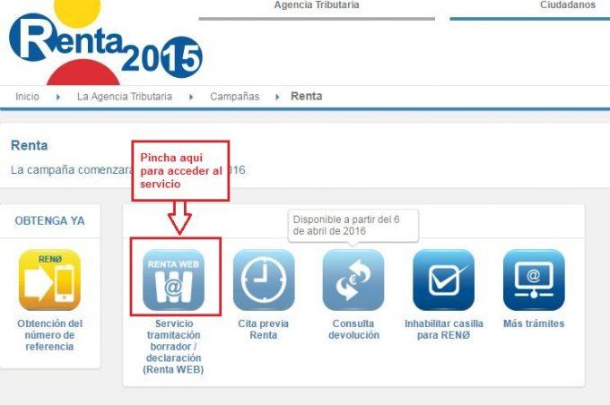 renta 2015 renta web