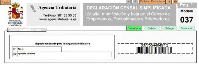formulario 037
