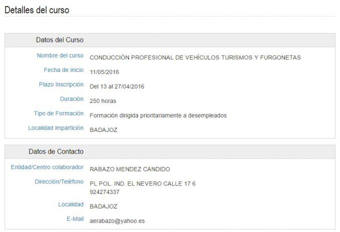 Extremadura trabaja buscador de cursos