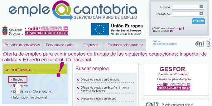 Emcan emplea cantabria servicio c ntabro de empleo for Oficina empleo cantabria