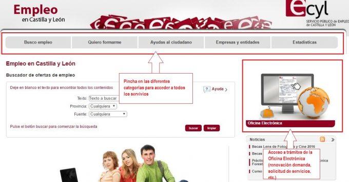 Ecyl servicio p blico de empleo de castilla y le n for Oficina virtual de empleo castilla la mancha