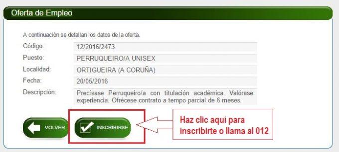 Emprego xunta servizo galego de colocaci n for Oficina virtual xunta galicia