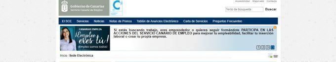 Sede Electrónica del Servicio Canario de Empleo