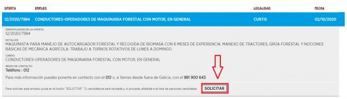solicitar empleo galicia