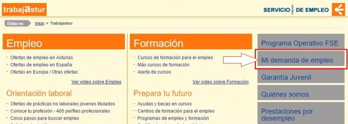 Renovar tarjeta de empleo asturias