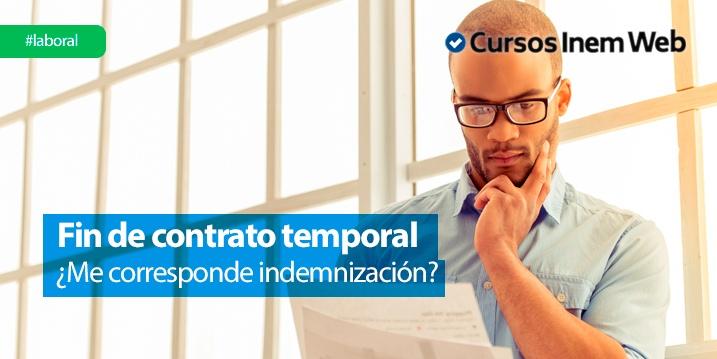 Indemnizaciones por fin de contrato temporal