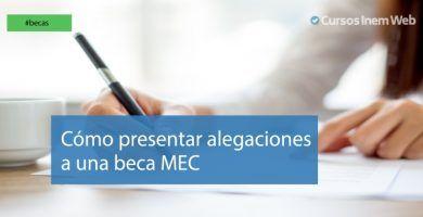 Alegaciones a las becas MEC