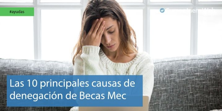 Causas de denegación de las becas MEC