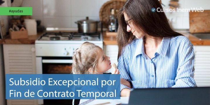 Subsidio excepcional contrato temporal