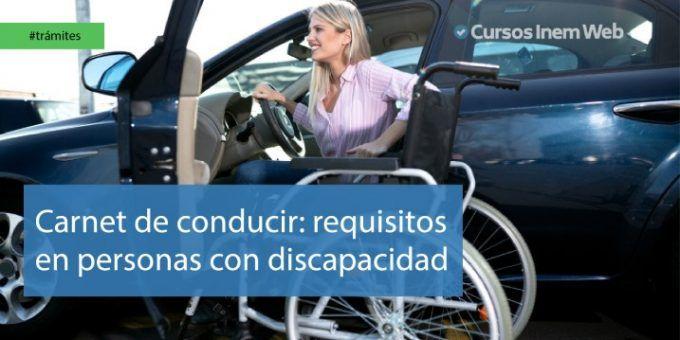 Carnet de conducir para discapacitados